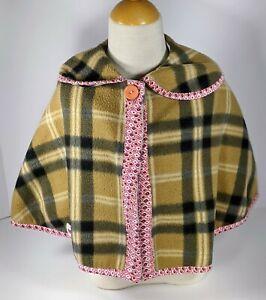 Little Girls Bonbos Poncho Single Button asymmetrical Overcoat Size 5T 6 T *Z7