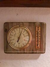 Vintage alte Forster# Wand Wetterstation Thermometer Barometer 50er J.