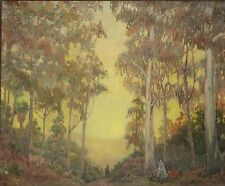 JAMES MCBURNEY-CA Impressionist-Large Original Signed Oil-Women in Sunset Woods