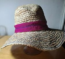New listing Vtg 90s Lola Hats Designer Raffia Floppy Wide Brim Beach Hat
