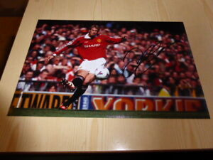 "David Beckham Manchester United 12"" x 8"" photograph original autograph COA"