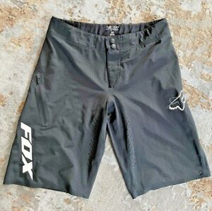 FOX Attack MTB Cycling Snap Baggy Logo Shorts Racing in Black - Men's 32