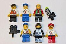 Lego Studios Minifigures Lot 4052 Steven Spielberg Director Grip Stuntman Camera