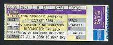 2000 Ozzfest unused concert ticket Pantera Godsmack Crazy Town Ozzy Osbourne NC