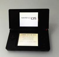 Black Refurbished Nintendo DS Lite Game Console NDSL Video Game System
