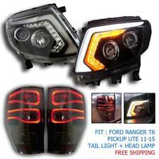 2011-15 Ford Ranger T6 Led Ccfl Black Pickup Xlt Wild Track Head Lamp Tail Lamp