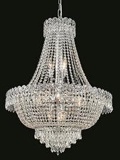 World Capital Empire 24x32 12 Light Dining Crystal Chandelier Light Chrome