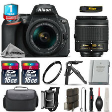Nikon D5600 DSLR Camera + 18-55mm VR + Extra Battery + UV + 32GB + 1yr Warranty