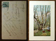 1912  Verchiano  scena  agreste   VAT  6411    viaggiata per Foligno  PG