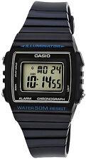 Casio Unisex W-215H-2AV Classic Black Digital Watch 50M WR LED Light Blue New