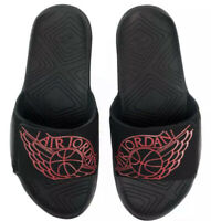 Nike Air Jordan Hydro 7 Slides Mens Size 8 Black-University Red AA2517-062 NEW