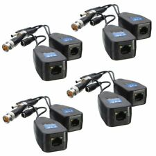 4 Pairs CCTV Coax BNC Video Power Balun Transceiver to CAT5e 6 RJ45 Connector!!