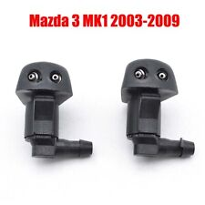 2Pcs Front Windshield Wiper Washer Hood Jet Sprayer Nozzle For Mazda 3 2003-2009