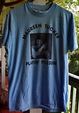 MAUREEN TUCKER -RARE- Playin' Possum Vintage  Short Sleeve Size L ,  T Shirt.