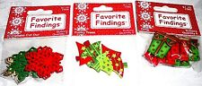 Favorite Findings Buttons Christmas GIFTS/FUNKY TREES/SNOWFLAKE CUTOUT Lot of 3