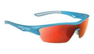 SALICE 011 Sport Sunglasses Turquoise / Red includes case and extra clear lens