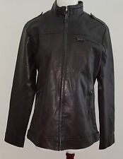 Gradyboy Beyond Imagination Faux Leather Jacket Brown Women Approx Size Medium