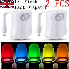 8 Colors 2 pcs Sensor Motion Activated LED Night Light Toilet Seat Lighting Lamp