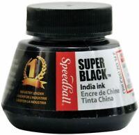 Speedball Super Black India Ink-2oz -SB3338