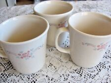 3 Corning USA M Wave OK Coffee Cups with Flowers # 13