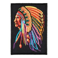Indian Chief Rainbow Colored Patch, Native American Patches