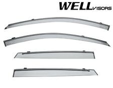 For 05-09 Kia Spectra5 WellVisors Window Visors Deflectors W/ Black Trim