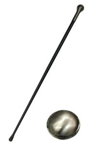 Cane Black And Silver 92cm Sober With Border Elegant Gothic steampunk