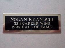 """Nolan Ryan Nameplate For A Signed Baseball Ball Cube Or Card Plaque 1"""" X 3"""""""