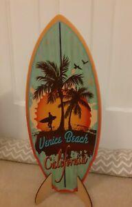 California Surfboard wood model Venice Beach. Handmade in California