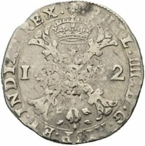 SPANISH NETHERLANDS PHILIPP IV  1622  Patagon  BRUSSEL  Delm:295 XF