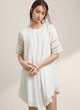 New Aritzia Wilfred Sonore Belted Boho Dress in Oak (Ivory Cream) *Size Small*