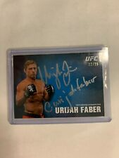 URIJAH FABER AUTOGRAPH 2013 TOPPS UFC U@-UF INSCRIPTION /25