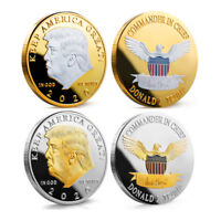 2x US President Donald Trump 2020 KEEP AMERICA GREAT Silver&Gold Challenge Coin