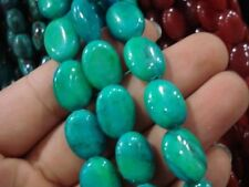 """10x14mm Blue Turkey Turquoise Gem Oval Loose Beads 15"""" DY"""