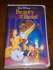 DISNEY BEAUTY AND THE BEAST VERY RARE BLACK DIAMOND VHS CHRISTMAS LEAD 92