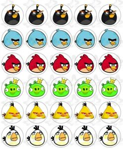 Angry Birds Edible ICING Cupcake Cup Cake Topper Image Party Decoration (30)