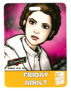 *RARE* Star Wars Celebration V Orlando Pass Badge SWC Exclusive Princess Leia