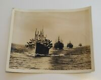 Official U.S Coast Guard Photo of Supply Line WW2  ~ Military World War 2