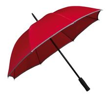Regenschirm Stockschirm Damen Herren Sicherheit bunt Reflektor Streifen Finn
