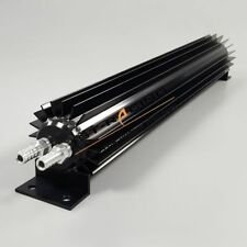 """15"""" Inch  Aluminum 2 Dual Pass Oil Cooler with  1/4"""" NPT barb fittings BLACK"""
