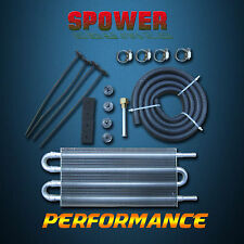 4 ROW Transmission Oil Cooler Radiator Converter Manual to Automatic Silver