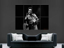 JOHNNY CASH MUSIC SINGER ACTOR LEGEND  ART WALL LARGE IMAGE GIANT POSTER