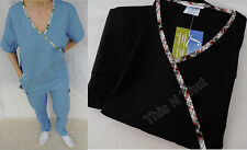 Medical Dental Nursing Scrub 2 piece Solid Color Set Uniform Unisex Xs, S, M, L
