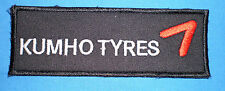 TOPPA PATCH KUMHO TYRES 12x4,7 cm Per tuta AUTO MOTO KART RALLY - racing suite