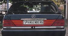 rot / orange Heckblende für Mercedes W140
