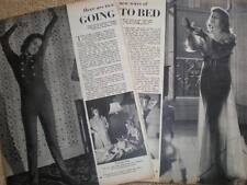 Womens' Wear on going to bed article photographs 1941
