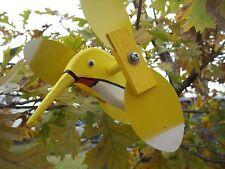 Yellow Hummingbird Mini Whirligigs Whirligig Windmill Yard Art Hand made