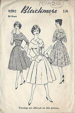 """1950s vintage Näh Muster B38 """" Kleid (202)"""