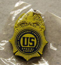 US DEA Special Agent Badge rubber key ring FBI CIA SECRET SERVICE FEDERAL POLICE