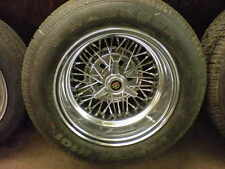 """Truspoke Wire Wheels w/ New Tires 15x10"""" Cragar, Ford Chevy Ferrari 250 GTO"""